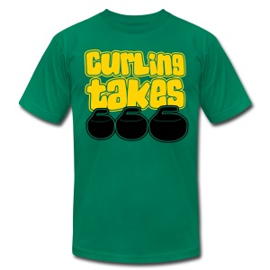 Curling Takes Stones T-Shirt - Men's T-Shirt by American Apparel