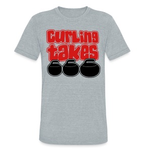 Curling Takes Stones T-Shirt - Unisex Tri-Blend T-Shirt by American Apparel