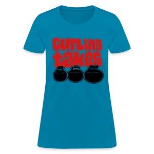 Curling Takes Stones T-Shirt - Women's T-Shirt