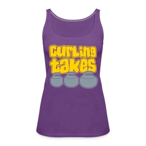 Curling Takes Stones Women's Tank - Women's Premium Tank Top