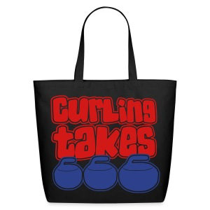 Curling Takes Stones Bag - Eco-Friendly Cotton Tote
