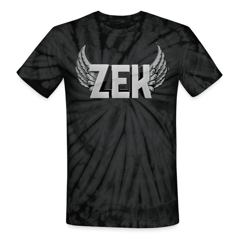 Zek Logo Grey - Unisex - Unisex Tie Dye T-Shirt