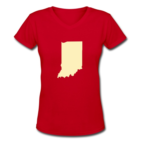 Delta Indiana Tee - Women's V-Neck T-Shirt