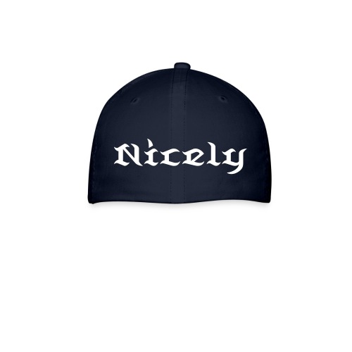NGL Fitted Hat With Custom Name And Number (White Text) - Baseball Cap