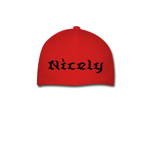 NGL Fitted Hat With Custom Name And Number (Black Text) - Baseball Cap