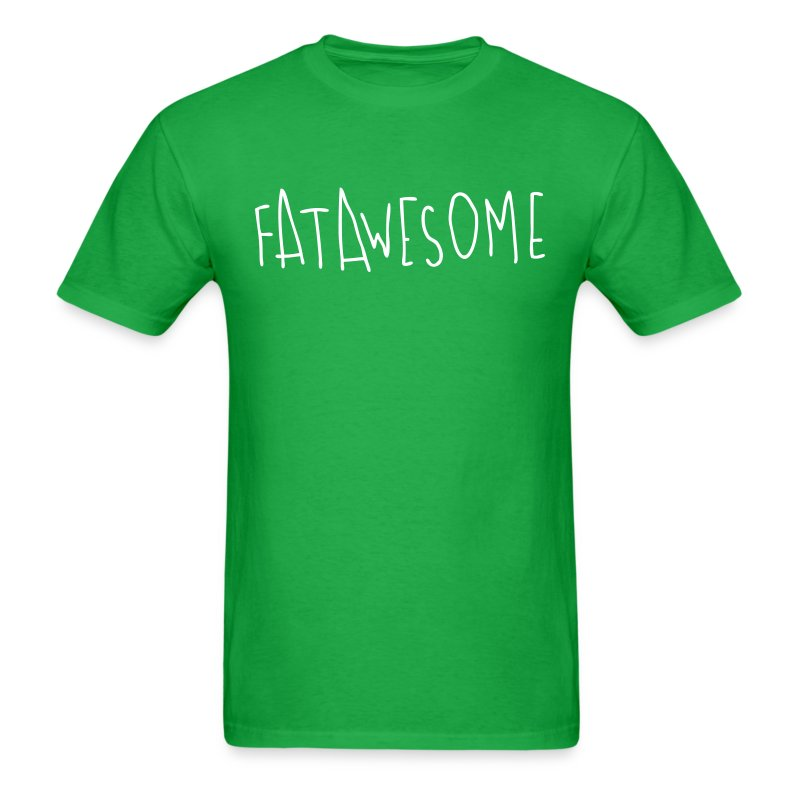 Fatawesome (white logo) - Men's T-Shirt