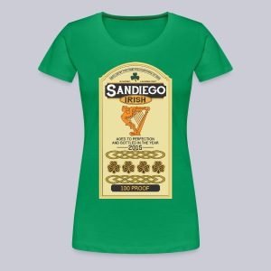 San Diego Irish Whiskey - Women's Premium T-Shirt