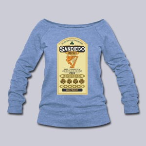 San Diego Irish Whiskey - Women's Wideneck Sweatshirt