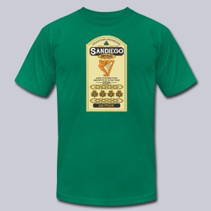 San Diego Irish Whiskey - Men's T-Shirt by American Apparel