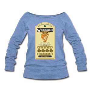 Wisconsin Irish Whiskey - Women's Wideneck Sweatshirt