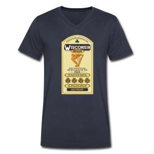 Wisconsin Irish Whiskey - Men's V-Neck T-Shirt by Canvas