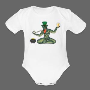 St. Patricks Day Spirit - Short Sleeve Baby Bodysuit