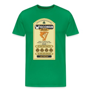 Wisconsin Irish Whiskey - Men's Premium T-Shirt