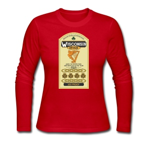 Wisconsin Irish Whiskey - Women's Long Sleeve Jersey T-Shirt