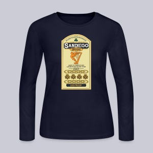 San Diego Irish Whiskey - Women's Long Sleeve Jersey T-Shirt