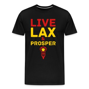 Live Lax And Prosper Lacrosse T-Shirt - Men's Premium T-Shirt