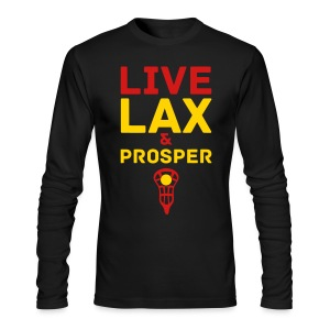Live Lax And Prosper Lacrosse T-Shirt - Men's Long Sleeve T-Shirt by Next Level
