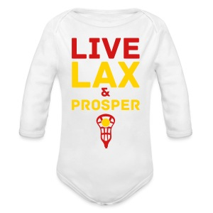 Live Lax And Prosper Lacrosse Baby Top - Long Sleeve Baby Bodysuit