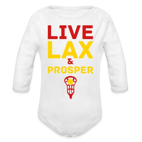 Live Lax And Prosper Lacrosse Baby Top - Organic Long Sleeve Baby Bodysuit
