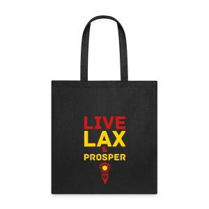 Live Lax And Prosper Lacrosse Tote Bag - Tote Bag