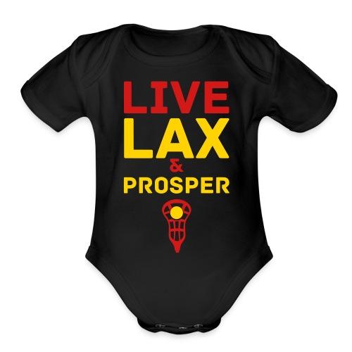 Live Lax And Prosper Lacrosse Kids Tee - Organic Short Sleeve Baby Bodysuit