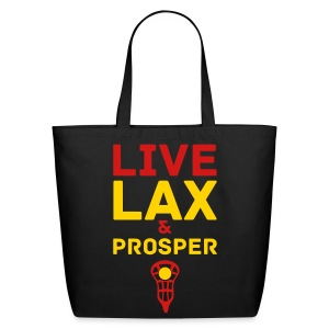 Live Lax And Prosper Lacrosse Tote Bag - Eco-Friendly Cotton Tote