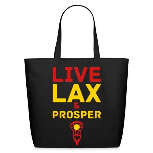 Live Lax And Prosper Lacrosse Tote Bag - Eco-Friendly Cotton Tote