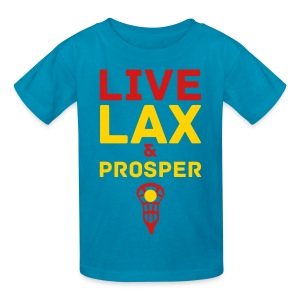 Live Lax And Prosper Lacrosse Kids Tee - Kids' T-Shirt