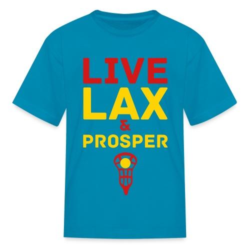 Live Lax And Prosper Lacrosse Kids Tee - Kids' T-Shirt