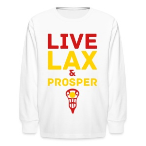 Live Lax And Prosper Lacrosse Kids Tee - Kids' Long Sleeve T-Shirt