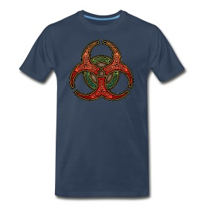 Knotwork Biohazard Symbol T-Shirt - Men's Premium T-Shirt