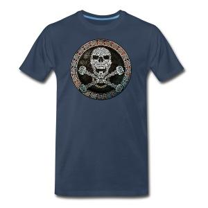 Knotwork Skull & Crossbones T-Shirt - Men's Premium T-Shirt