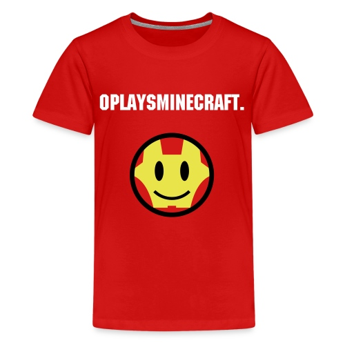 OPLAYSMINECRAFT. Iron Man Cartoon - Kids' Premium T-Shirt