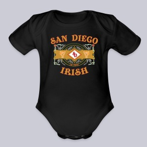 San Diego Irish Label - Short Sleeve Baby Bodysuit