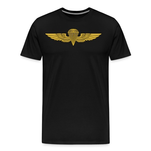 NAVY-  Jump Wings - Men's Premium T-Shirt