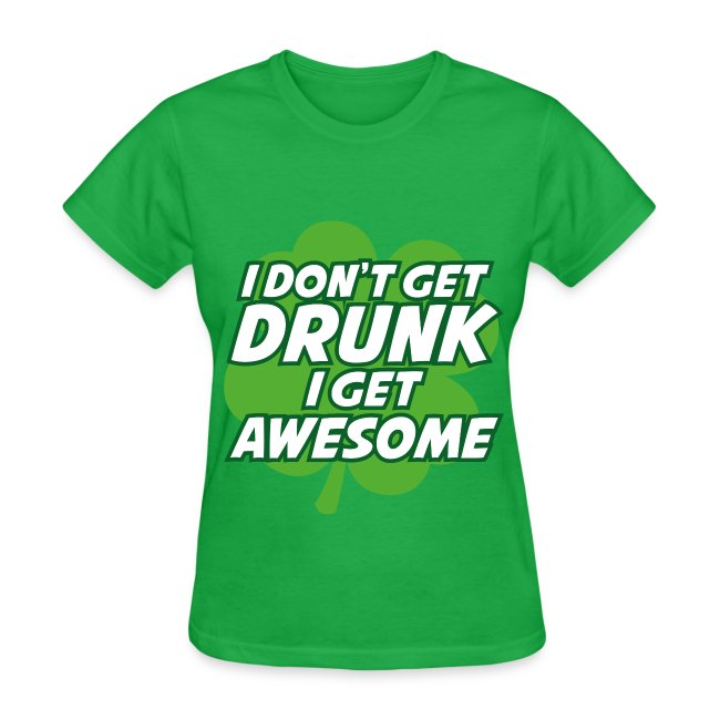 Womens Awesome St Pattys Day