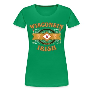 Wisconsin Irish Label - Women's Premium T-Shirt