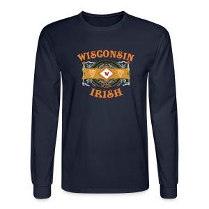 Wisconsin Irish Label - Men's Long Sleeve T-Shirt