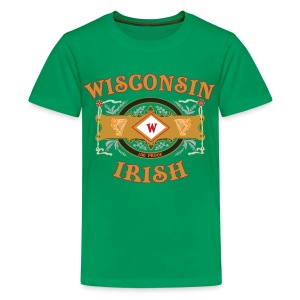 Wisconsin Irish Label - Kids' Premium T-Shirt