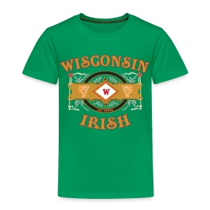 Wisconsin Irish Label - Toddler Premium T-Shirt