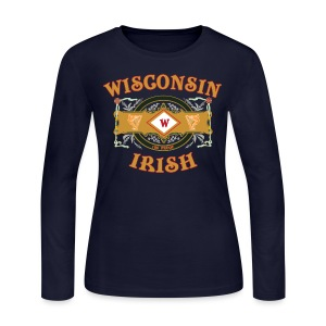 Wisconsin Irish Label - Women's Long Sleeve Jersey T-Shirt