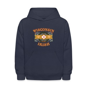 Wisconsin Irish Label - Kids' Hoodie