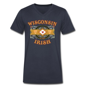 Wisconsin Irish Label - Men's V-Neck T-Shirt by Canvas