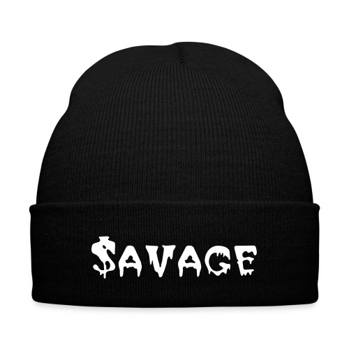 Savage beanie - Knit Cap with Cuff Print