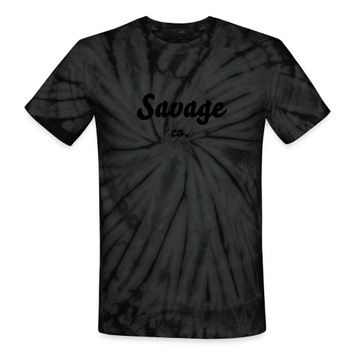 Savage co Black Tie Dye Tee - Unisex Tie Dye T-Shirt