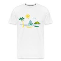 Island Paradise (ID 1004861645) - Men's Premium T-Shirt by Spreadshirt - Men's Premium T-Shirt