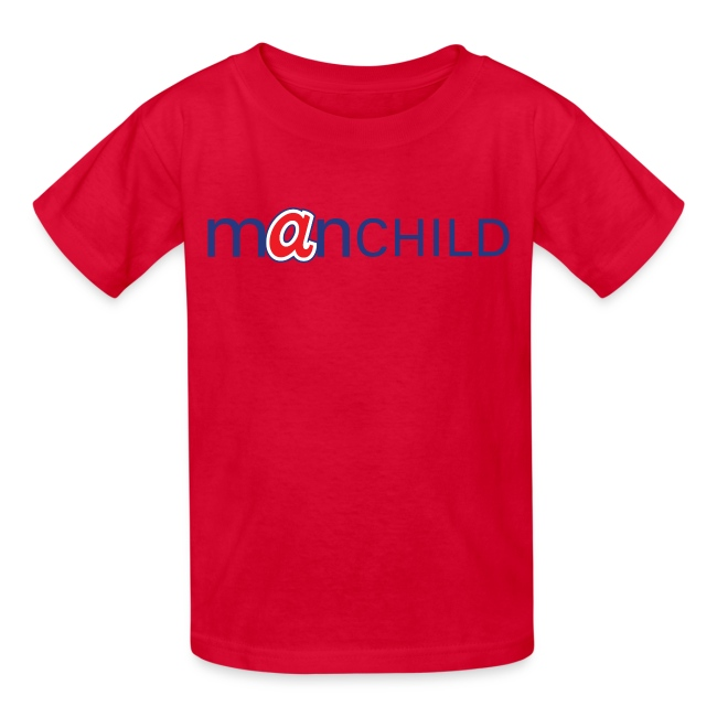 Manchild Braves Kid's T-Shirt