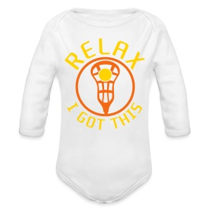 Relax I Got This Baby Lacrosse Romper Top - Long Sleeve Baby Bodysuit