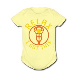 Relax I Got This Baby Lacrosse Romper Top - Short Sleeve Baby Bodysuit