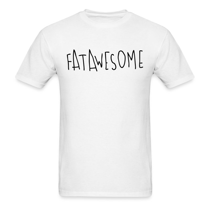 Fatawesome (black logo) - Men's T-Shirt